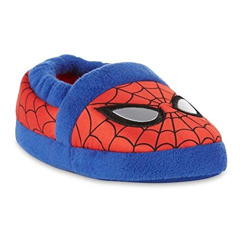 Marvel Avengers Spider-Man Kids A-Line Slippers (Medium / 7-8 M US Toddler, Red/Light Blue)