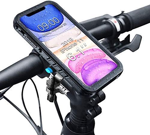 SPORTLINK Handyhalterung Fahrrad mit wasserdichte Hülle für iPhone 11, Handyhalter Motorrad Bike Mount für 20-35 mm Lenker (6,1 Zoll)
