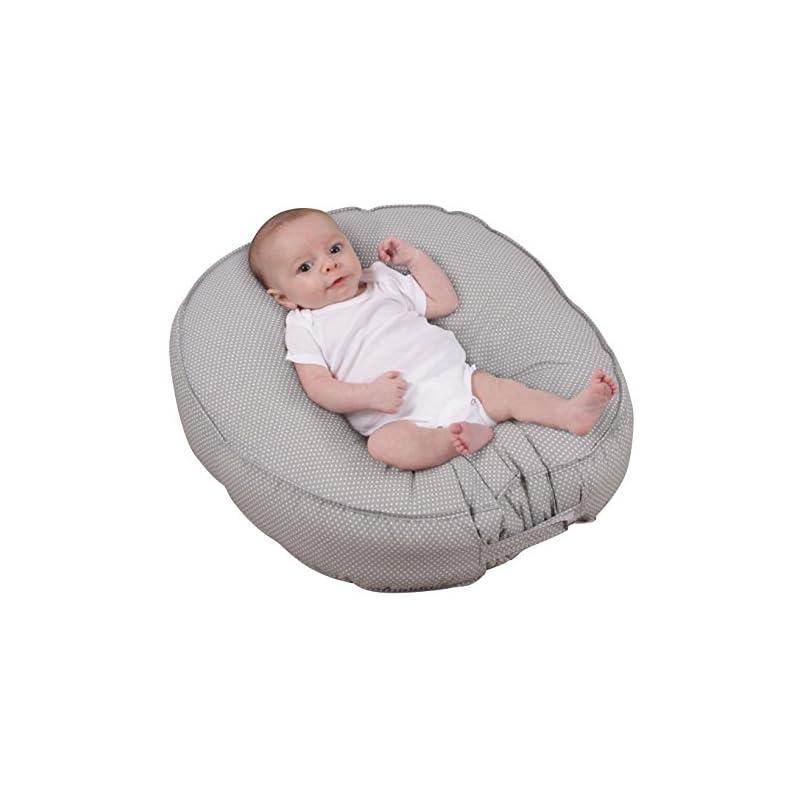 crib bedding and baby bedding leachco podster, gray pin dot