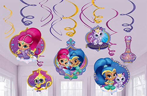 amscan Shimmer and Shine Foil Swirl…