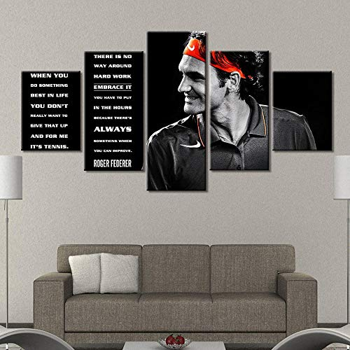 n a Leinwand Malerei Roger Federer Poster Home Decoration Wandkunst Poster und Druckgrafik Dekorative Malerei Malerei und Kalligraphie mit Rahmen Huzi