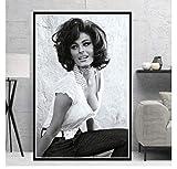ZOEOPR Leinwand Poster Sophia Loren Schwarz Weiß