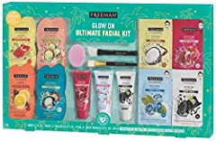 GLOW ON ULTIMATE FACIAL MASK KIT Pamper yourself with this multi-masking kit for fresh, glowing skin. Kit makes a great gift set or stocking stuffer for women, teens, or someone special this holiday season! Featured Masks include: Clay, Sheet, Charco...