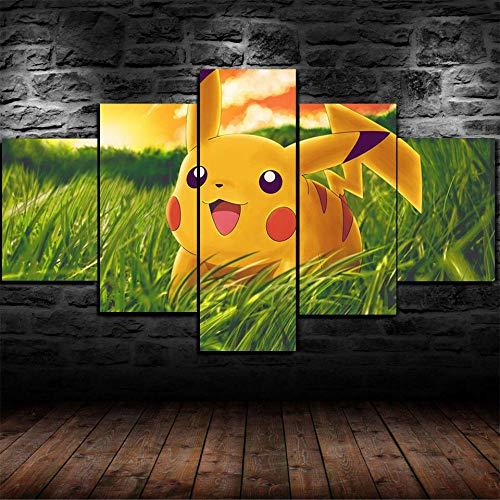 AWER Modulaire Panneaux Motif Tableau Pokémon Pikachu...