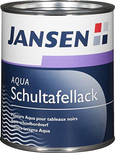 JANSEN Aqua-Schultafellack 375ml außen und innen schwarz
