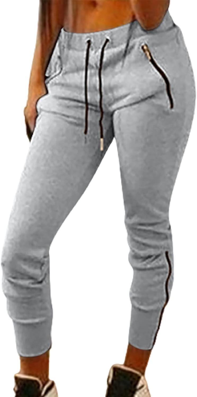 Womens Sweatpants Drawstring Lounge Jogger Pants Skinny Fit Lounge Workout Yoga Pants Comfy Pajama Casual Trousers