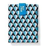 Roll'eat - Boc'n'Roll Tiles | Bolsa Merienda Porta Bocadillos, Envoltorio Reutilizable y Ecológico sin BPA, Azul