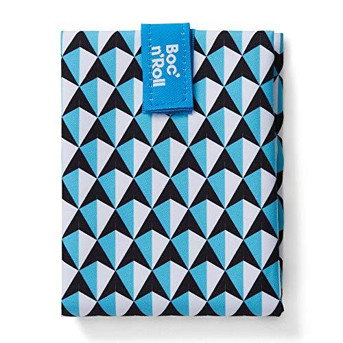 Roll'eat - Boc'n'Roll Tiles | Wiederverwendbarer und Ökologischer Sandwichhalter ohne BPA, Blau