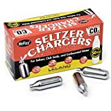 100 Leland (LE10 CO2) CO2 Soda Chargers - 8 Gram C02 Seltzer Water Cartridges For Use With Hamilton Beach...