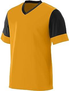 Augusta Sportswear AK-848061062199 Men's Lightning Jersey, XXX-Large, Gold/Black