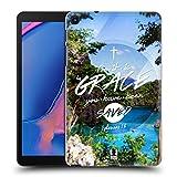 Head Case Designs Gnade Christliche Typografie Serie 3 Harte Rueckseiten Huelle kompatibel mit Galaxy Tab A 8.0 & S Pen 2019