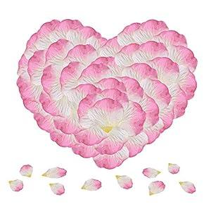 KnR Harmony Flower Petals 1200pcs Pink Silk Rose Petals for Romantic Night Wedding Party Valentine's Day Decoration