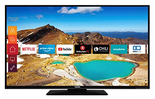 Telefunken D55U500B4CWI 140 cm / 55 Zoll Fernseher (Smart TV inkl. Prime Video / Netflix / YouTube, 4K UHD mit Dolby Vision HDR / HDR 10 + HLG, Triple Tuner)