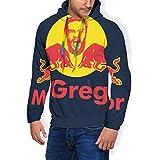Conor McGregor Notorious Redbull - Sudadera con capucha para hombre, con bolsillos y terciopelo Negro Negro ( M
