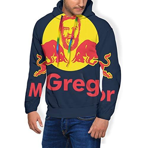 Conor McGregor Notorious Redbull - Sudadera con capucha para hombre, con bolsillos y terciopelo