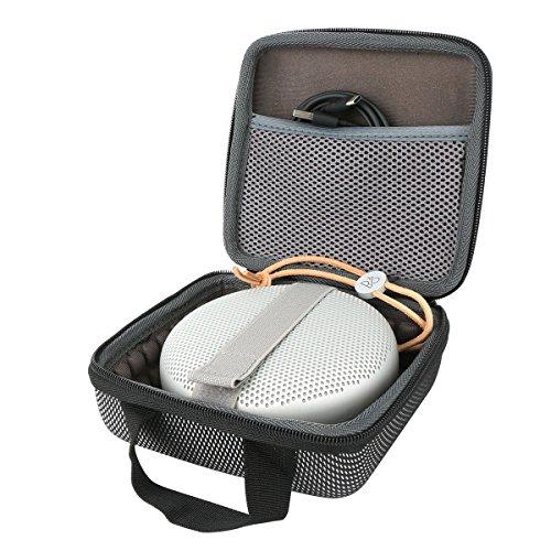 co2CREA Veranstalter Hart Reise Lagerung Tragen Taschen Hülle für B&O Play by B&O Play by Bang & Olufsen Beoplay A1 / Beosound A1 Bluetooth-Lautsprecher (Nur Hülle)
