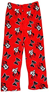 Image of Red Bow Minnie Mouse Pajama Pants for Girls