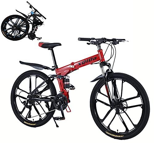 donna biciclette mountain bike 27speed 26 inch Freni a doppio disco anteriore e posteriore black foldable Bicicletta Mountain Telaio leggero in acciaio al carbonio city bike/Spedito dalla Germania