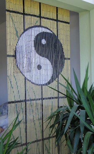 Bambustürvorhang Bambusvorhang Türvorhang Ying Yang ca. 90x200cm