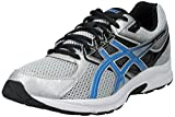 ASICS Men's Gel Contend 3 Running Shoe, Silver/Electric Blue/Black, 8 4E US