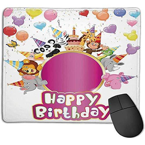 Muismat pad muismat verjaardag decoratie voor kinderen baby safari dieren met party cones ballonnen cake afbeelding ope