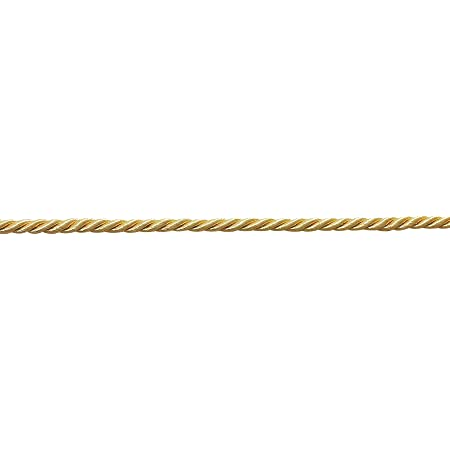 3 yds green and gold 316th inch wide cord