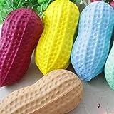 HermosaUKnight Big Peanut Squishy Correas de compresión de Aumento Lento Juguetes de descompresión Estrés (Multicolor)