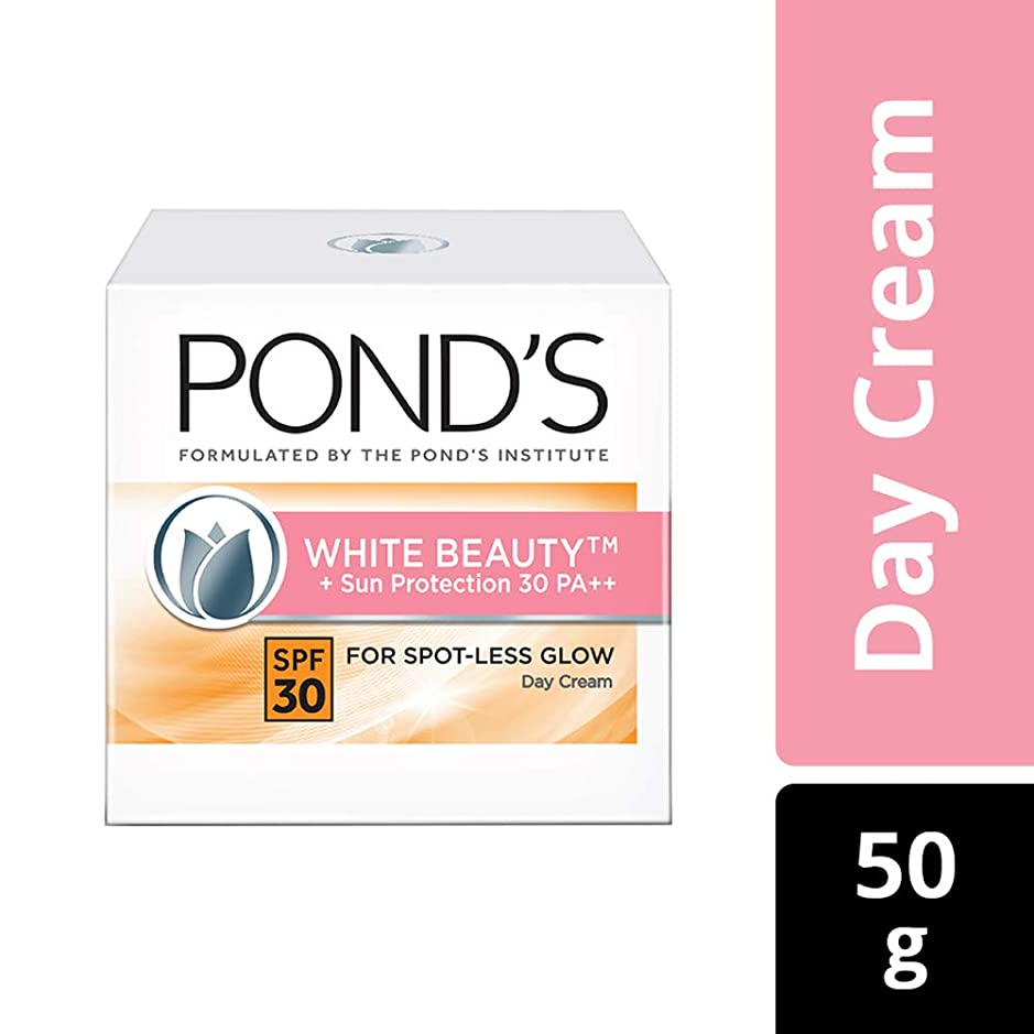 反応する工場液体POND'S White Beauty Sun Protection SPF 30 Day Cream, 50 g