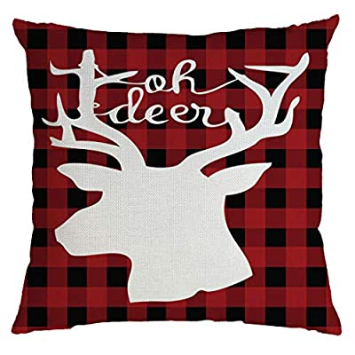 Pillow Inserts,Christmas Pillow Cover Pillowcases Decorative Sofa Cushion Cover 45x45cm, Lined Linen,Throw Pillow Covers, Clothing, Shoes & Jewelry