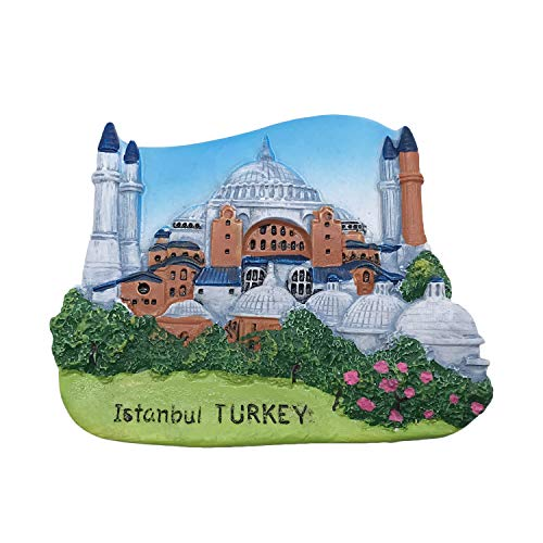Istanbul Turkey 3D Refrigerator Magnet Tourist Souvenirs Resin Magnetic Stickers Fridge Magnet Home & Kitchen Decoration from China