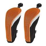 Andux 2 piezasfunda de Palo de Golf híbridos con Intercambiable No. Etiqueta MT/HY01 (Negro/Rojo)