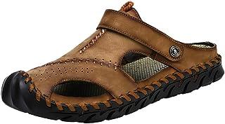 [CHENJUAN-Shoes] ファッションシューズ スタンダードシューズ 靴メンズファッションソフトサンダルカジュアル つま先屋外兼用スリッパ レジャーシューズ