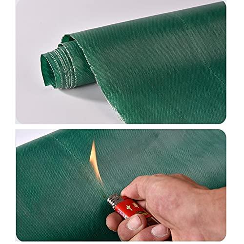 GDMING kraftig presenning, 0,5 mm utomhus vattentät solskyddsgardin, brandförebyggande hög temperaturbeständighet delare glasfiber svetsfilt (färg: Grön, storlek: 2 x 3 m)