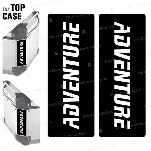 2 adhesivos reflectantes compatibles con Givi Monokey Trekker Outback Baúl de aluminio Top Case 37 42 48 L (negro)