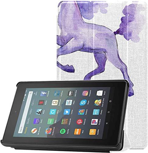 Cubierta Funda para Tableta Kindle Fire de 7 Pulgadas Magical Violet Unicorn Kinde Fire 7 Funda para Tableta para Tableta Fire 7(novena generación,versión 2019)