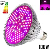 100W Led Grow Light Bulb Full Spectrum,Plant Light Bulb with 150 LEDs...