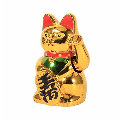 Neilyn Chinesische Glück Reichtum Winken Katze Gold Waving Hand Katze Feng-Shui Glück Home Decor Willkommen winkenden Katze
