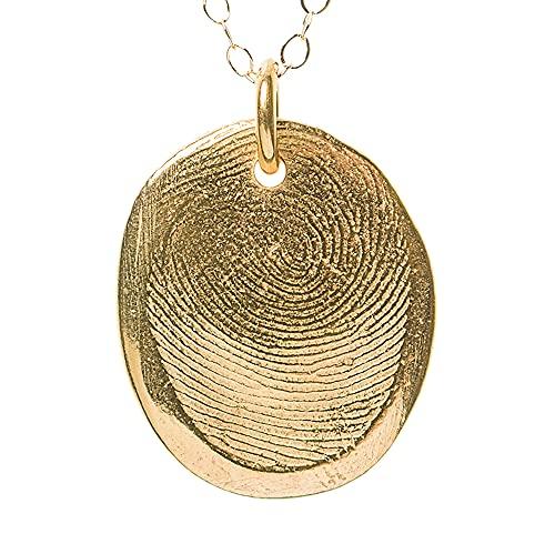 Custom gold vermeil fingerprint pendant kit
