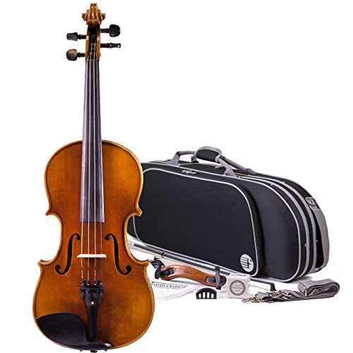 Fiddlerman Artist Violin 1/2 Outfit with Case, Bow, Rosin, Shoulder Rest
