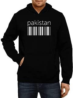 Idakoos Pakistan Lower Barcode Hoodie