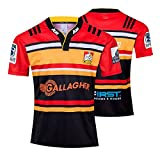 JIEBANG 2019 Exeter Chiefs Rugby Jersey, Chiefs Memorial Édition Manches Courtes T-Shirt Rugby Polos, Jersey Football Formation Compétition Masculine Red-XXL