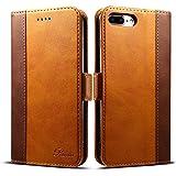 Rssviss Housse iPhone 8 Plus, Etui iPhone 7/8 Plus en Cuir pour iPhone 7/8 Plus [4 emplacements pour...