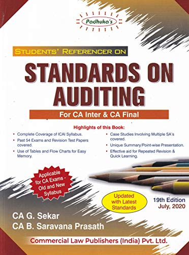 Padhuka's Student's Referencer On Standards On Auditing For Ca Inter & Ca Final - 19/E, July 2020