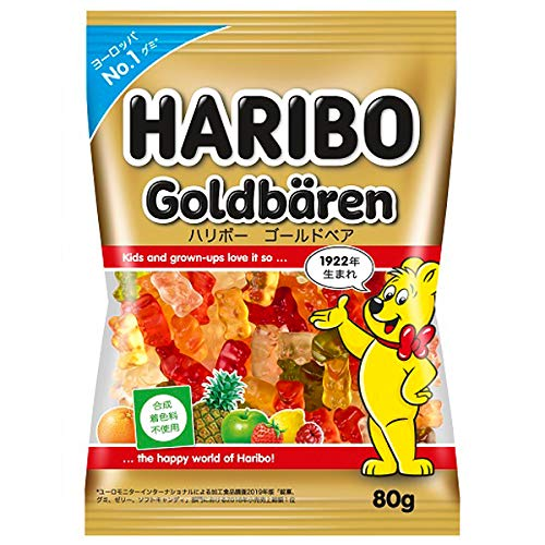 ハリボー ゴールドベア 80 g×80個入り (1ケース)