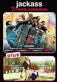 JACKASS 7 Movie Collection DVD Set (Jackass the Movie, 2, 2.5, 3, 3.5, Bad Grandpa and Bad Grandpa .5)