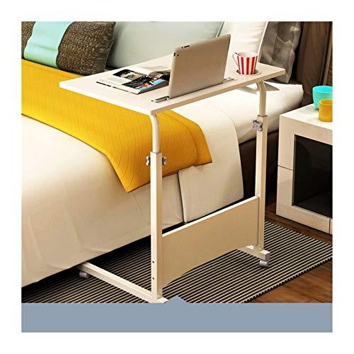 Mesa Rodante para Computadora Escritorio Extraíble para Ordenador Portátil,Oficina,Sala De Conferencias,Colegio, Mesa Plegable portátil FF (Color : Pure White, Size : 60 * 40cm)