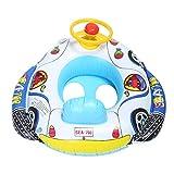 Baby Pool Float, Kindersitz Boot Aufblasbare Schwimmring Trainer Taille Pool Float mit Lenkrad Kind Erste Schwimmen Float Badewanne Spielzeug Pool Zubehör für Kleinkinder
