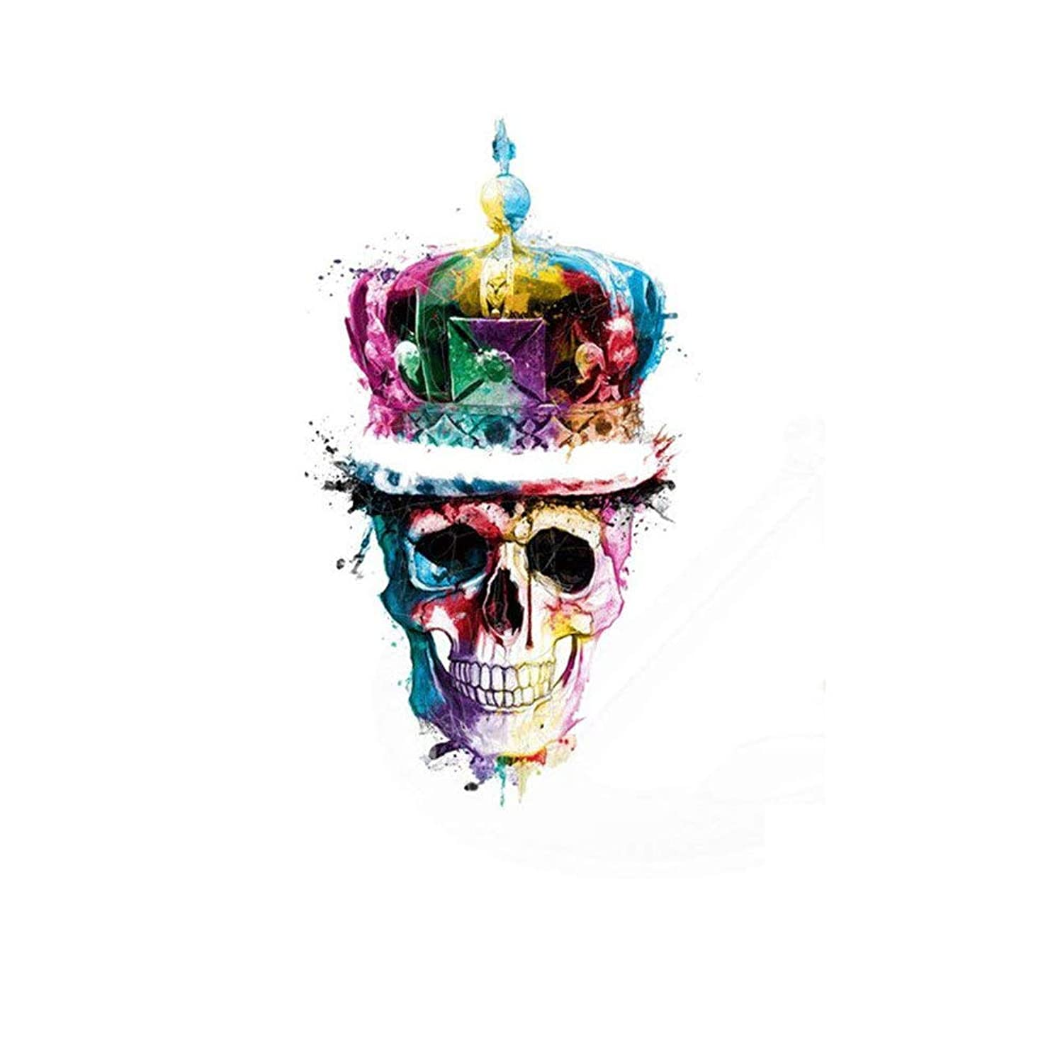 Toonol Multicolor Crown Skull Head Stickers 28X16.23cm Patches for Clothing DIY Woman T-Shirt Jacket Grade-A Thermal Transfer