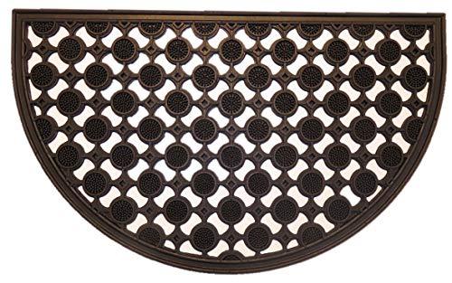 oKu-Tex deurmat, thermoplastisch elastomeer, zwart, 45 x 75 x 1,5 cm