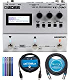 BOSS VE-500 Vocal Performer Multi-Effects Pedal Bundle with Blucoil 5-FT MIDI Cable, Bundle with Blucoil 10-FT Balanced XLR Cable, and 5-Pack of Reusable Cable Ties
